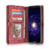 Hülle und Geldbörse für Samsung Galaxy S8 Plus Case Geldbeutel Portmonee Case Schutzhülle Tasche Etui Wallet