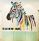 Xiaoaige Cartoon Zebra 3D Stereoskopische Wandaufkleber Kinderzimmer Dekorpapier Kinderzimmer Wandkunst Malerei Decoration110X92Cm