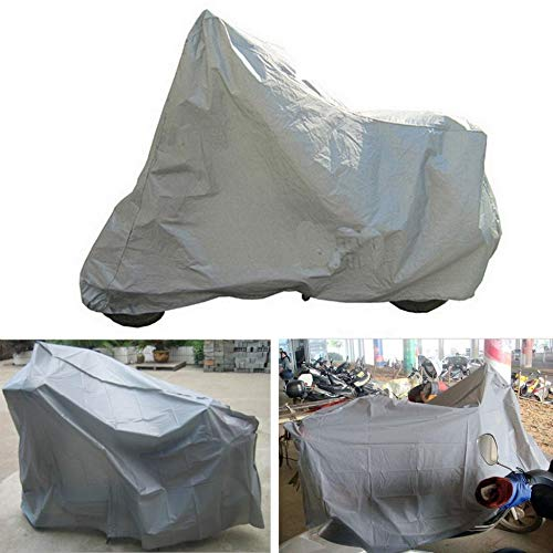 argento m Telo coprimoto protettivo completo Anti UV impermeabile antipolvere antipioggia moto traspirante cappuccio tenda esterna coperta