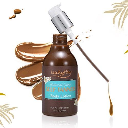 Crema abbronzante, luckyfine crema abbronzante crema naturale abbronzante fast enhancer naturally bronzer, 1er 200 ml