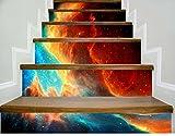 Longwei Staircase Selbstklebende Tapete Großen Himmel zu Hause Dekoration 3D Abnehmbare DIY Stereo-Aufkleber Moderne HD Wasserdichte Treppe Tapeten kaufen Drei Bekommen Eins Frei