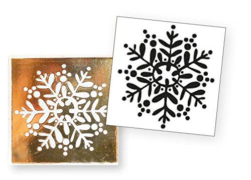 Artoz Crea Motions Stempel Schneeflocke 137606-59 Größe: 42 x 106 mm Bastelstempel, Weihnachtlich, Winterzauber (Stempel Schneeflocke)