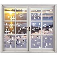 Dodor 200 Schneeflocken Fensterbild Abnehmbare Fensterdeko Winter und Weihnachten - Statisch Haftende PVC Aufkleber
