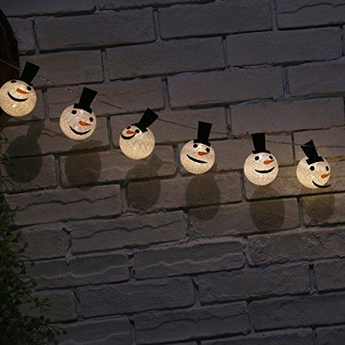 LGZOOT Globe String Licht Santa Claus LED Batterie Licht Weihnachten Gartendekoration
