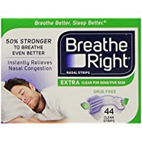Breathe Right Nasal Strips, Extra Clear for Sensitive Skin, 44 Clear Strips preisvergleich bei billige-tabletten.eu