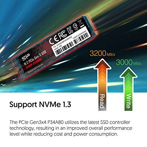 Silicon Power PCIe M.2 NVMe SSD M.2 512GB Gen3x4...