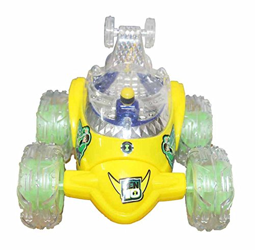 Tickles Chota Bheem Stunt Racer Remote Musical Flashing Lights Radio Control Car RC 360' Rotating Toy For Kids 30 cm  available at amazon for Rs.650