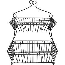 ghq-La moda europea de protección del medio ambiente de doble cesta de alambre / de alta calidad de aerosol Pan Torta Canasta (35 * 26 * 45cm)