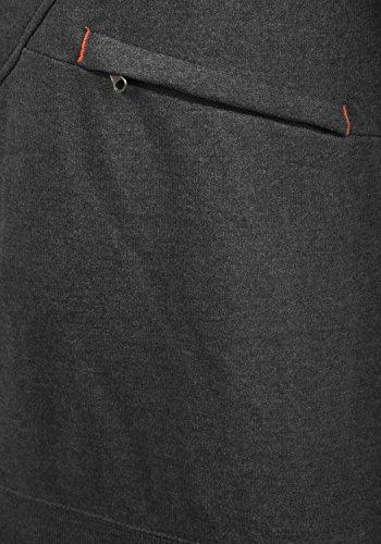 BLEND Cross Herren Kapuzenpullover Hoodie Sweatshirt aus hochwertiger Baumwollmischung Dark Grey (75146)