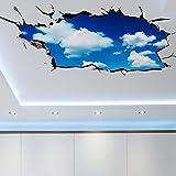 3D Wandaufkleber,Wandtattoo Weltraum Poster Galaxis Tapete Abnehmbar PVC Wandgemälde Selbstklebend 3d Effekt Wallpaper für Schlafzimmer Sofas Wohnzimmer Geschenkideen fuer Jugendliche (B)