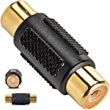 Crispy Deals Single Pin RCA Female to RCA Female Coupler Connecter Adapter Jointer Extension Socket (Single Pin in 3 PCs Only)