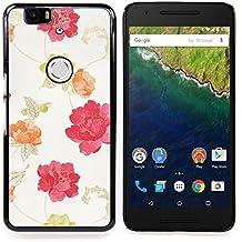 Stuss Case / Funda Carcasa protectora - Acuarela Beige Rosa Rojo Amarillo - Huawei Google Nexus 6P