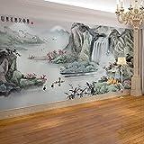 Leegt La Figura 3D La Pittura Di Paesaggio Cinese Moderni Divani Antichi In Tv Del Soggiorno Come Sfondo 400cmX350cm