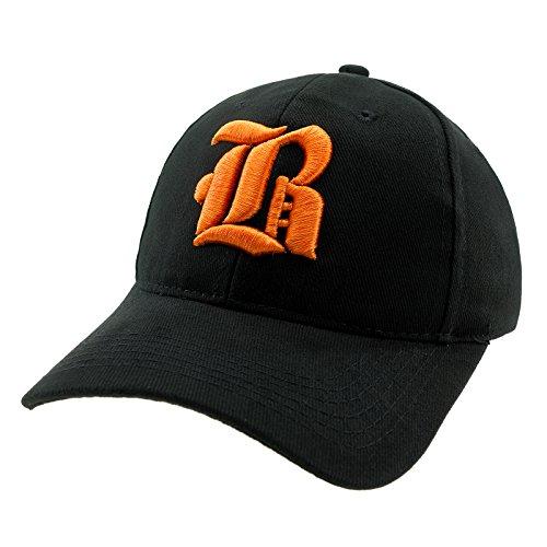 4sold Casual Baseball Gothic B Letter Cap Caps Snap Back Hat Hats Snapback Trucker Cap Headwear (Black B orange)