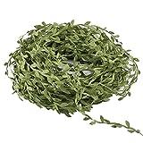 Amkun Guirlandes de simulation feuillage de vignes artificielles vertes de 40,2m à suspendre, plantes en soie Ivy faites de rotin pour décoration de murale, d'accessoire de mariage, etc.