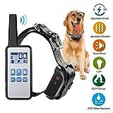 PPAP Anti Bell Hundehalsband, Hunde Erziehungshalsband mit Schock, Wiederaufladbar und Wasserdicht 500M, mit Beep Vibration und Shock LCD Elektronische Halsband Für Alle Größen Hunde
