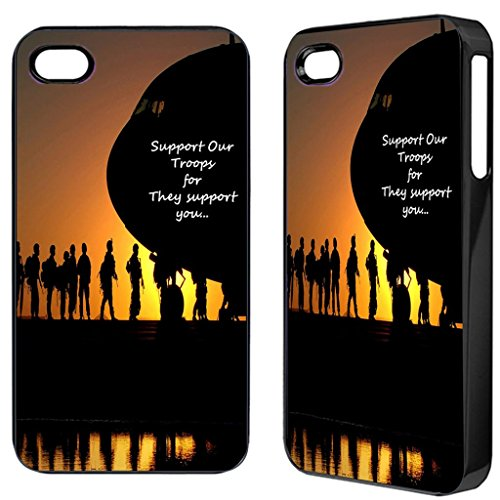 Support our troops plane samsung s3 s4 iphone 4 5 5C 5S ipod 4,5 mini Telefonabdeckung Fall (iPhone 4)