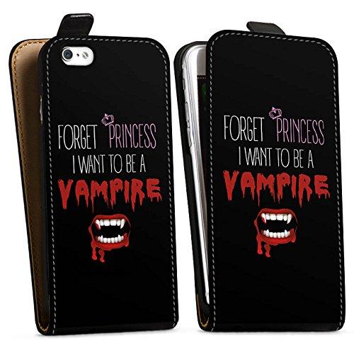 Apple iPhone X Silikon Hülle Case Schutzhülle Hallowen Spruch Vampir Downflip Tasche schwarz