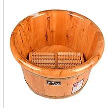 Barril de baño para pies + Rodillo de masaje Madera de cedro macizo Bañera para lavabo