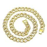 MagiDeal Collar Colgante Cadena Color Oro Signo de Dinero Dólar / Cruz Hip Hop Accesorios - Estilo 2 (Cadena)