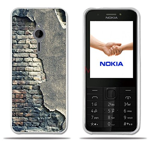 Nokia 230 Hülle, FUBAODA [Broken Wall] Transparente Silizium Clear Fashion Creative 3D zeitgenössischen Chic Design Easy Grip Durable Flex Vintage Retro Style Anti-Scratch Smart TPU Beschützer für Nokia 230