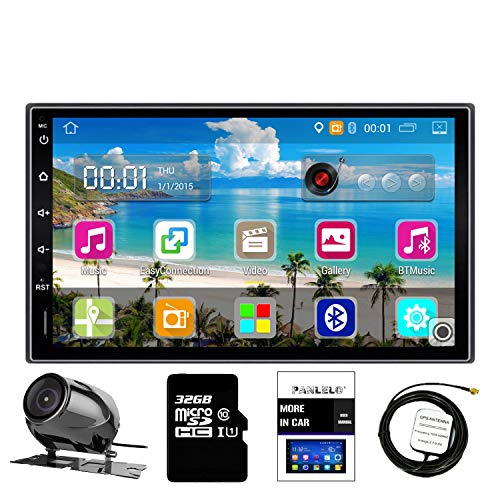 Panlelo PA09YZ32, In Dash 2 DIN 7 inch Head Unit Android GPS Navigation Car Stereo Quad Core 16GB + 32GB Flash Bluetooth AM/FM/RDS Radio WiFi Backup Camera (no DVD Player)