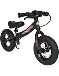 BIKESTAR® Original Premium Sicherheits-Kinderlaufrad für kleine Abenteurer ab 2 Jahren ★ 10er Sport Edition ★ Teuflisch Schwarz (matt)