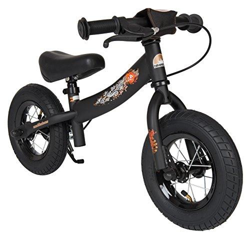 BIKESTAR® Premium 25.4cm (10 pulgadas) Bicicleta sin pedales para pequeños aventureros a partir de 2 años ★ Edición Sport ★ Negro