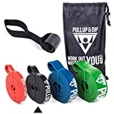 PULLUP & DIP Fitnessbänder Widerstandsbänder Tasche und gratis Übungsanleitung - Klimmzugband Widerstandsband Pull Up Resistance Band - Fitnessband Klimmzughilfe in Light (schwarz)