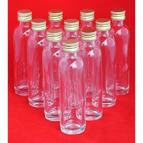 24 botellas de vidrio pequeños 40ml con tapón de rosca de SLK GmbH