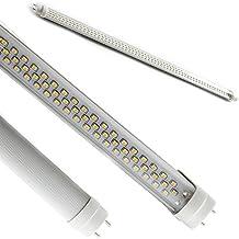 FuturPrint - Tubo de neón LED SMD (150cm, conexión T8 de 24W = 230W, 6.000-6.500K, 2150lúmenes), luz blanca fría, alta luminosidad, hasta 50.000 horas de duración, funcionamiento a 220V sin necesidad de arrancador ni reactor, color transparente