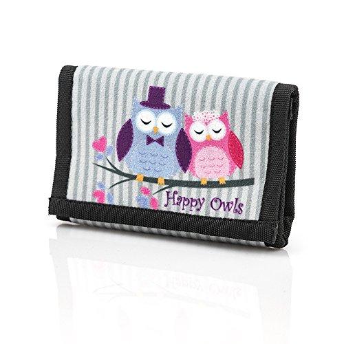 Eulen HAPPY OWLS COLLECTION farbe Brieftasche für Kinder eine einzigartige Sammlung Modell 2018 (Ausdrücke Mädchen Geldbörse)
