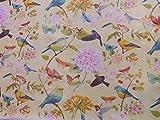 Wachstuch Tischdecke Wachstischdecke Ostern Frühling Vogel Birds Blumen Schmetterling Blumenmuster (110 x 140)