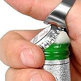 Barware Flaschen-Öffner-Ring-Leichter Edelstahl 22MM Silver