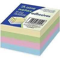 Dohe 75010 - Pack de 400 cubos de notas adhesivas, 75 x 75 mm