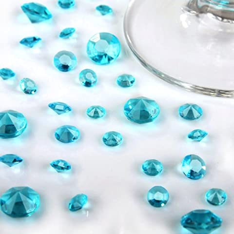 10000 Aqua Turquoise Mixed Sizes(9500 /4.5mm+400 /6.5mm+100/ 10mm) Wedding Table Diamonds Crystals Confetti