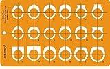 FineArt Jewellery Design Drawing Drafting Template Stencil - Anelli Anello Vista laterale