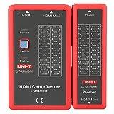 Akozon HDMI Tester HDMI Portable Hochauflösendes Kabeltester Checker NF-622 LED-Anzeige zur Überprüfung der Störung,kurz,offen,Cross-Status von HDMI-Kabel und HD-Draht-Test Ideal für die Fehlersuche