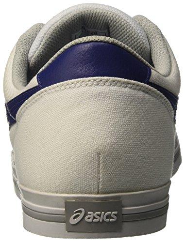 Asics Aaron, Sneakers basses mixte adulte Blanc (White/Bleue Print)