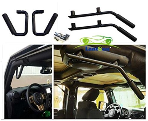 lantsun-wrangler-accessories-black-front-rear-solid-steel-grab-handle-bar-kit-for-jeep-wrangler-jk-2
