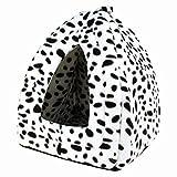 Maison pour chat Pyramide (Imprimé Dalmatien) 33x 33x 47cm