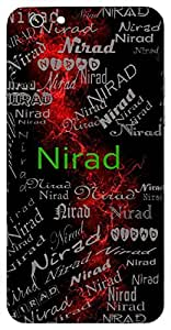 Nirad (Given By Water, Cloud) Name & Sign Printed All over customize & Personalized!! Protective back cover for your Smart Phone : SONY E-4