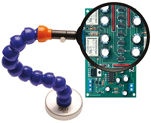 BGS 8372   Lupe mit flexiblem Haltearm