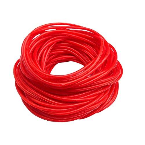 keland 50P Gummi Silikon Armbänder Armbänder Bänder Shag Rubber Gummies Bangles Wristbands (red) (Gummy Bands)