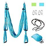 FAMLOVE Yoga Set Anti-Gravity-Schwingen Hängematte, Yoga Hängematte, 6 Griff Yoga Swing für Aerial Yoga, einschließlich 2 Extensions Straps