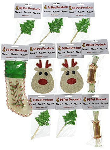 Pj Pet Products Christmas Treat Hamper, Pack of 10