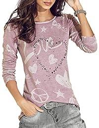 Preisvergleich für PAOLIAN Damen Lose Sweatshirt Pullover Oberteil Frauen Brief Gedruckt Hemd Langarmshirt Casual Bluse Tops T-Shirt...