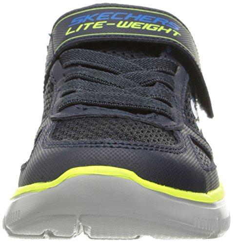 Skechers Flex vantaggio Power shot sneakers Navy / Lime