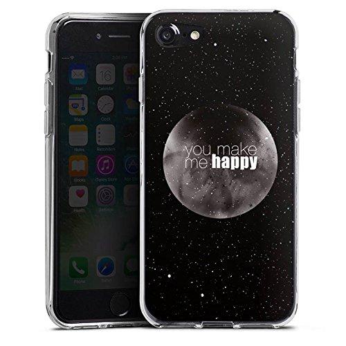 Apple iPhone X Silikon Hülle Case Schutzhülle Happy Mond Love Silikon Case transparent