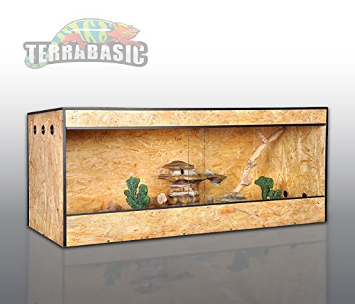 TerraBasic RepCage 150x60x60, Seitenbelüftung, Schwarze ABS Kanten